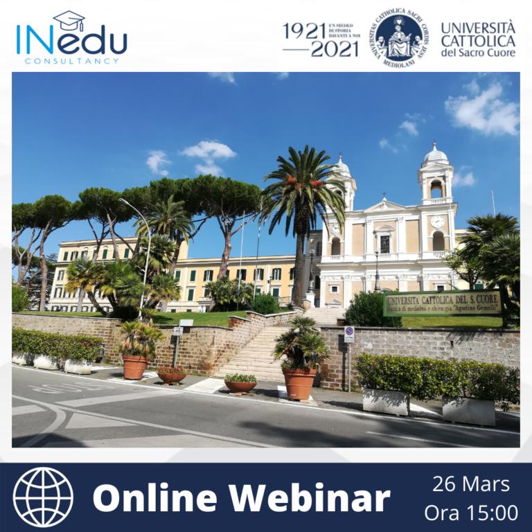 Universita Cattolica del Sacro Cuore – Online Webinar